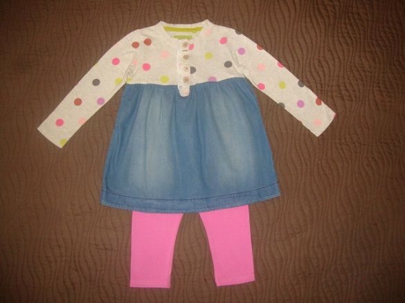 Комплект: платье-туника и лосины NEXT на 98р.