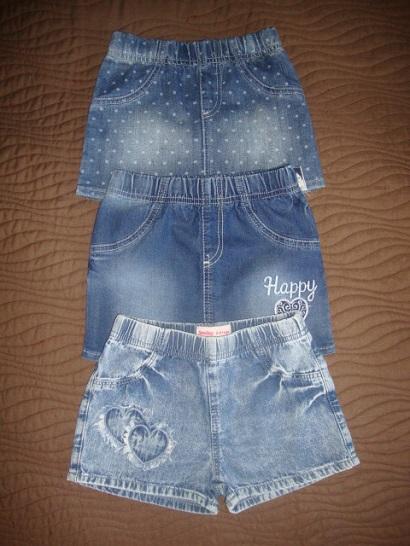 Джинсовые юбочки и шорты на 98-104-110р.