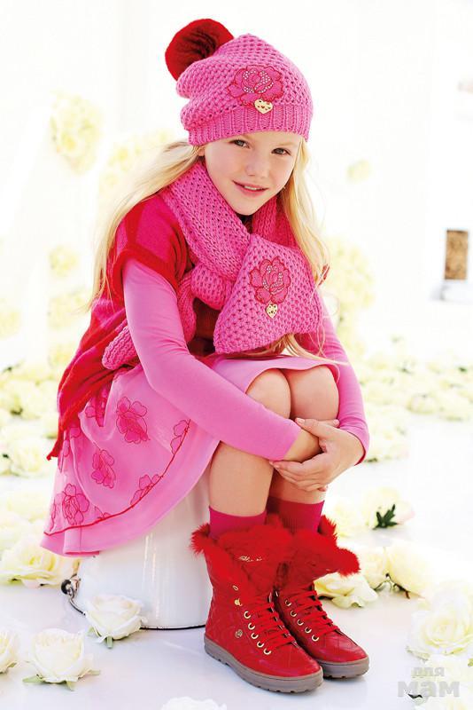Комплект Miss Blumarine шапочка+шарф