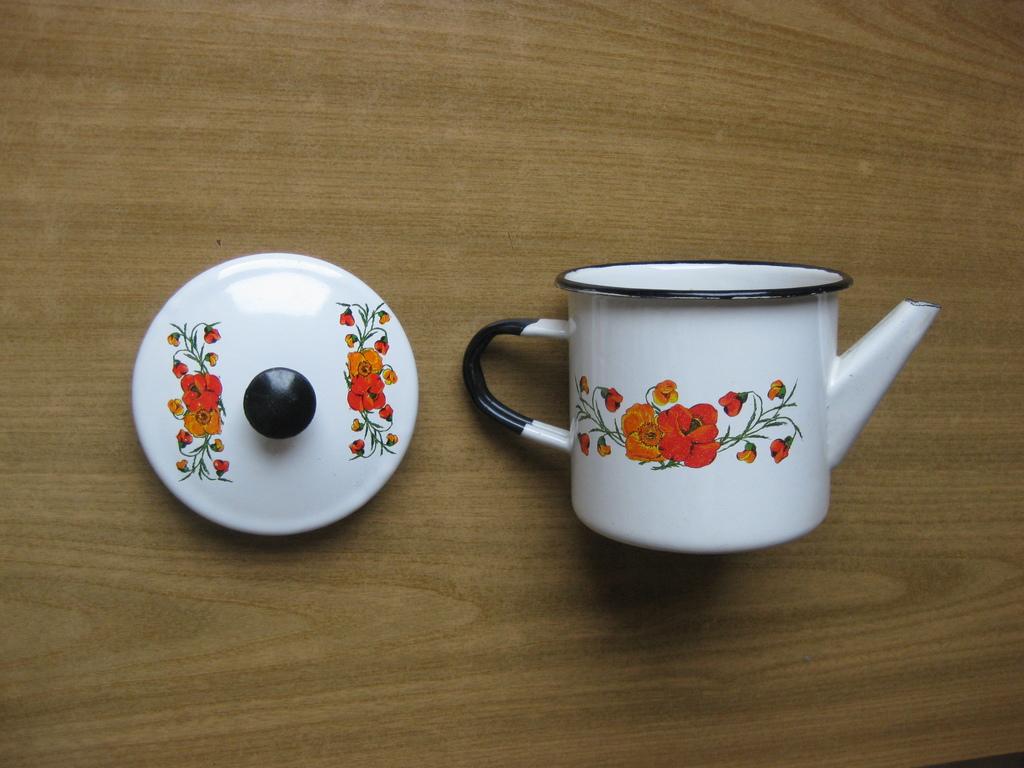 Чайник маленький эмалированный