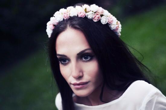 Ободки с цветами на голову фото