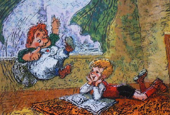 Малыш и карлсон картинки из книги, лошадью своими