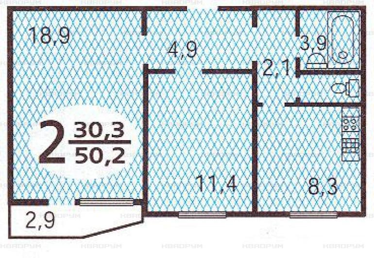 Предлагается двушка по адресу хорошевское ш. , 52к1, м.. куп.