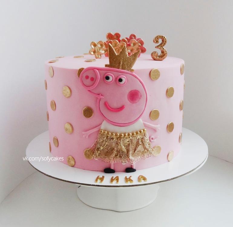 Торт пеппа без мастики фото