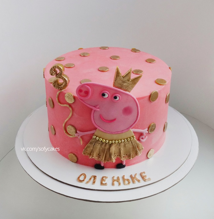 фото торт со свинкой пеппой