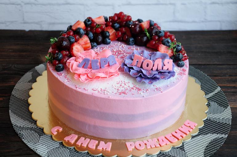 Торт на др девочке без мастики
