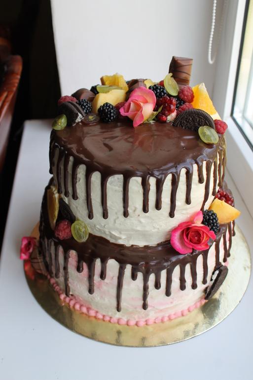 двухъярусный торт рецепт с фото