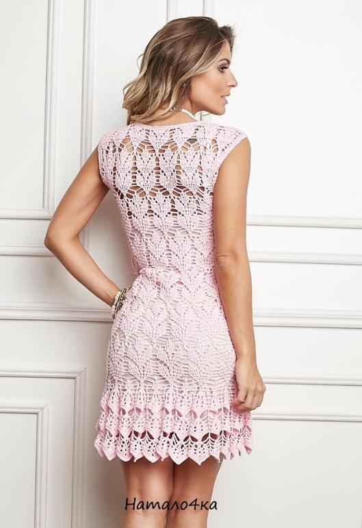 Платье крючком от дизайнера