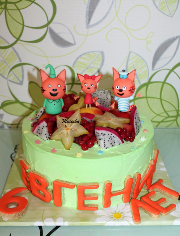 Торт три кота без мастики