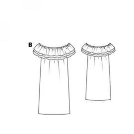 Выкройка платьев с рюшами