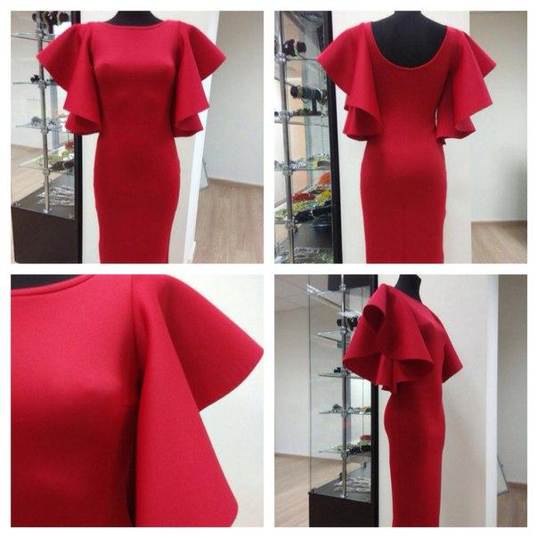 Платье неопрен красное
