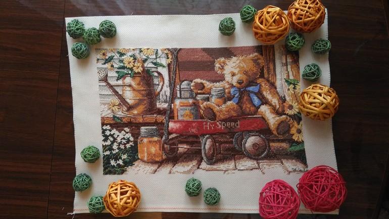 Медовый мишка схема вышивки
