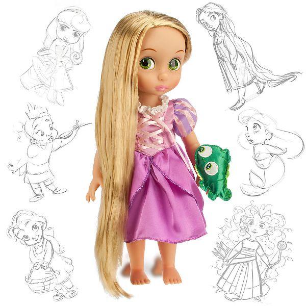 кукла рапунцель с длинными светящимися волосами купить в детском ми