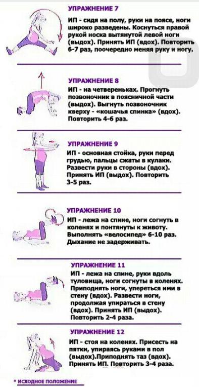 по в для триместрам картинках гимнастика беременных