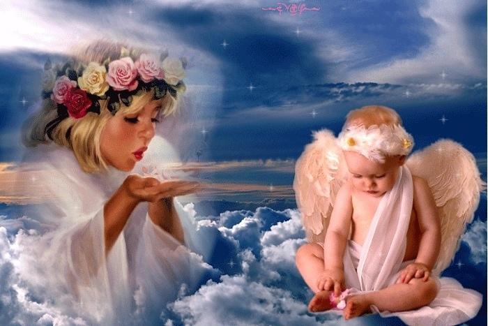 Анимации картинки с ангелами, себя картинки