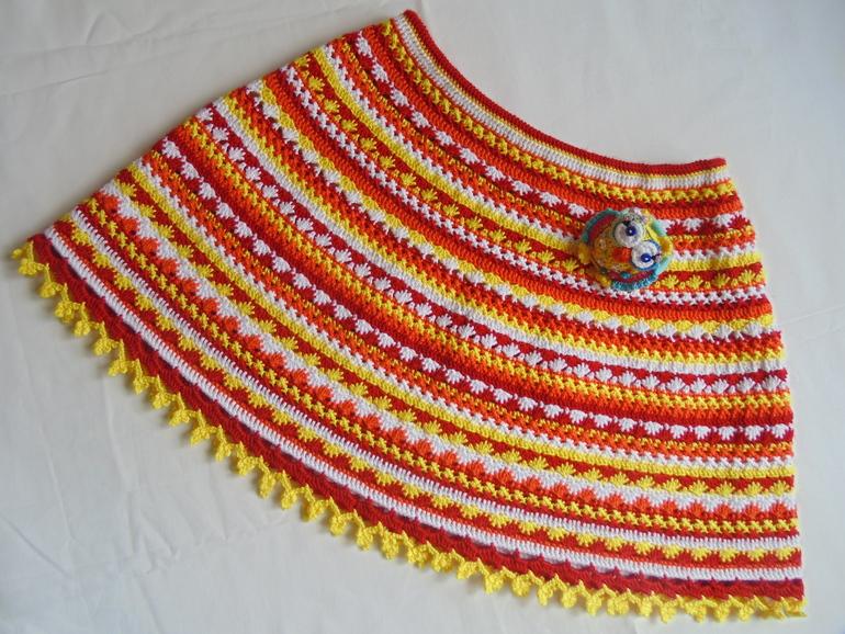 Узор на детскую юбку крючком