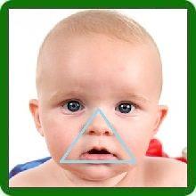 носогубный треугольник синий у грудничка фото