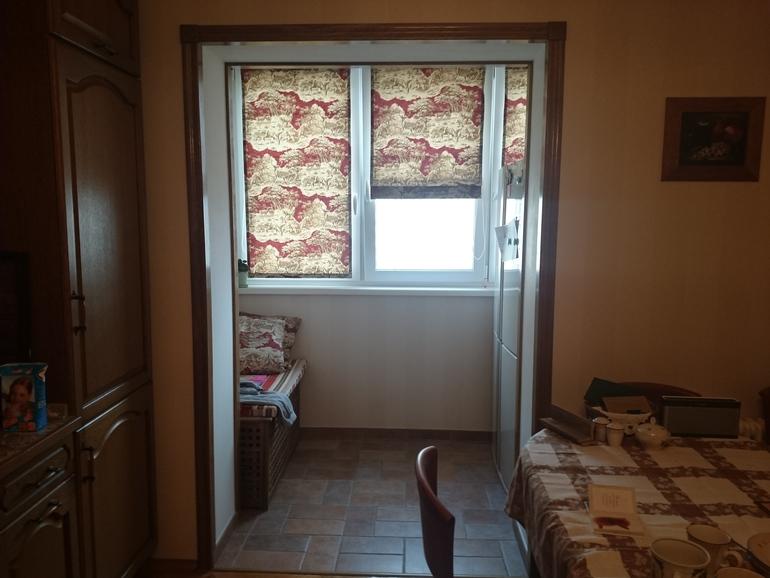 Присоединение балкона к комнате.у вас тепло? - присоединить .