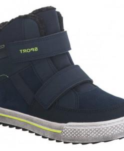 Ботинки зимние Капика 43211-2 синий/зеленый (33-37)