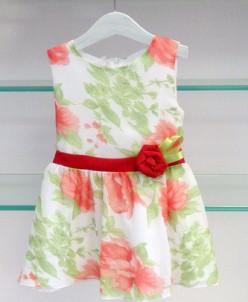 Платье с красным цветком