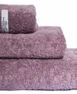 """Махровое полотенце 100% хлопок """"Буржуа Нуво""""- серая лаванда"""