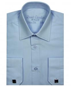 Рубашка для мальчика, Dast Cardin, арт.201,голубая, Slim Fit
