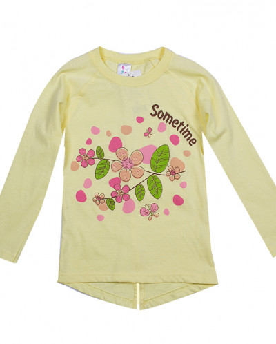 Кофта для девочки Цветы