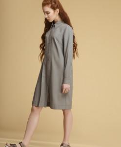 Р 1123 платье Цвет: серо-зеленый в клетку