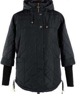 04-1224 Куртка демисезонная (синтепон 150) Плащевка Черный