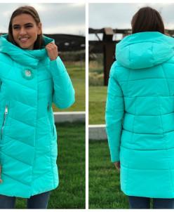 Женская куртка 6063 мятная