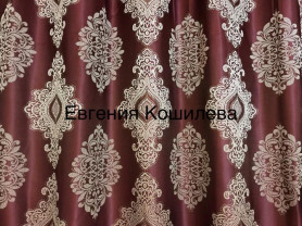 Готовые шторы из плотной жаккардовый ткани