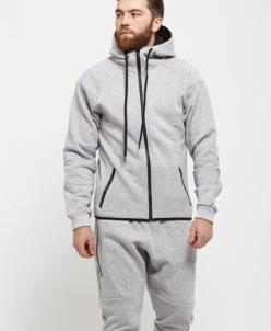 Мужской утепленный спортивный костюм 16926 серый