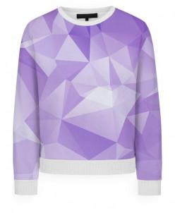 Свитшот женский Фиолетовая абстракция