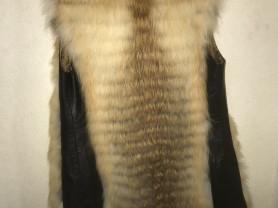 Меховой жилет! В ПОДАРОК аксессуар-широкий ремень из нат.кожи