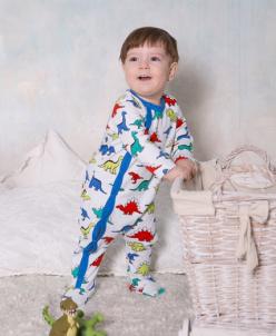 Комбинезон детский  мальчик - 2 расцветки - Динохаврики