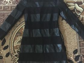 платье одевала один раз MaxMara размер s c кожаными вставками