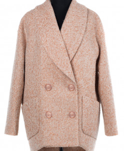 Пальто женское демисезонное Букле Бежевый