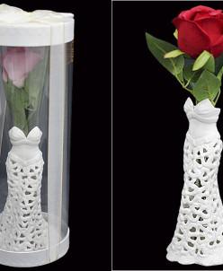 Ваза подарочная ROSE в под.уп. 31см Керамика