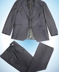 122 - 152 3в1 д/м пиджак , брюки , жилет Т-СЕРЫЙ