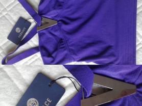 Топ новый Versace Италия размер 44 46 М фиолетовый сиреневый стрейч мягкий кофта блуза блузка