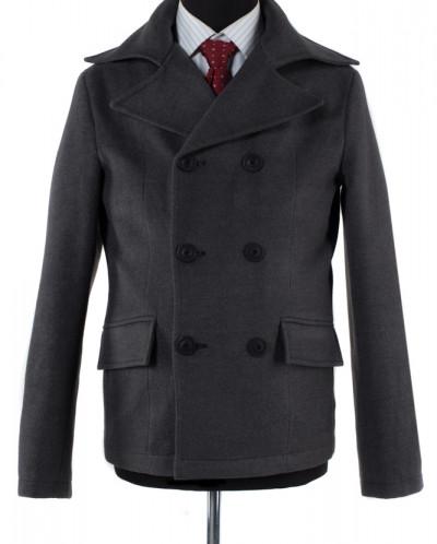 06-0171 Пальто мужское демисезонное (Рост 182) Кашемир Серый