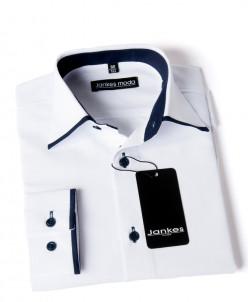 Рубашка белая с отделкой  116-146 cm