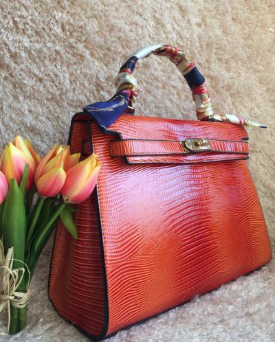 HERMES Constance сумка женская кожа красная Гермес