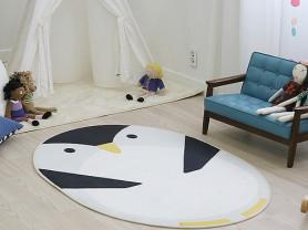 Овальный ковер белого цвета Penguin 100 x 150 см