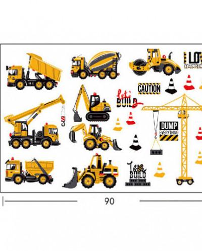 Наклейка многоразовая «Дорожная техника»