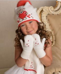 ЛЮБОВЬ комплект (шапка, шарф, варежки)