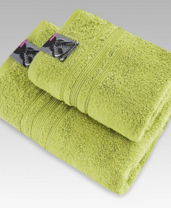 "Махровое полотенце 100% хлопок ""Стефа""-олива"