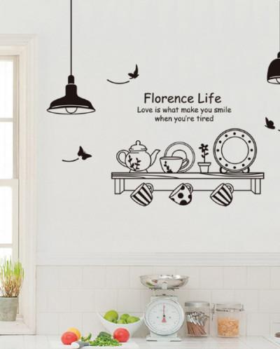 Наклейка многоразовая интерьерная «Florence Life»