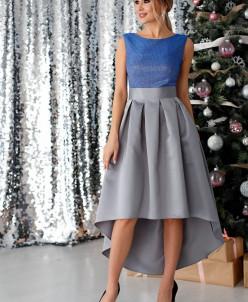 Платье Анита цвет серо-голубой (П-180-4)