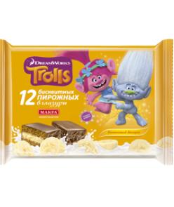 Пирожное Макфа Trolls Банановый  десерт